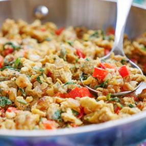 egg bhurji - Indian scrambled eggs