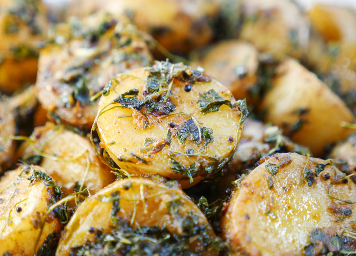 Instant Pot Aloo Methi (Potatoes with Fenugreek Leaves)