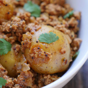 Instant Pot Ground Pork Vindaloo with Potatoes