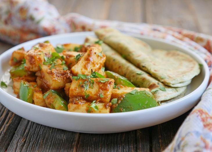 Paneer Onion Masala Stir-fry