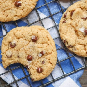 the best gluten free chocolate chip cookies by ashley of myheartbeets.com