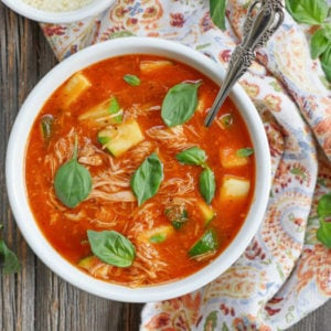 Italian Chicken Tomato Soup by ashley of myheartbeets.com
