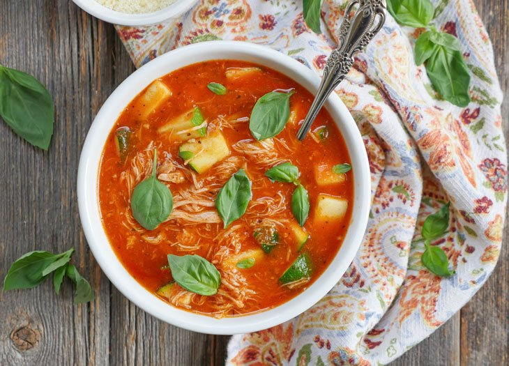 Instant Pot Italian Chicken and Tomato Soup