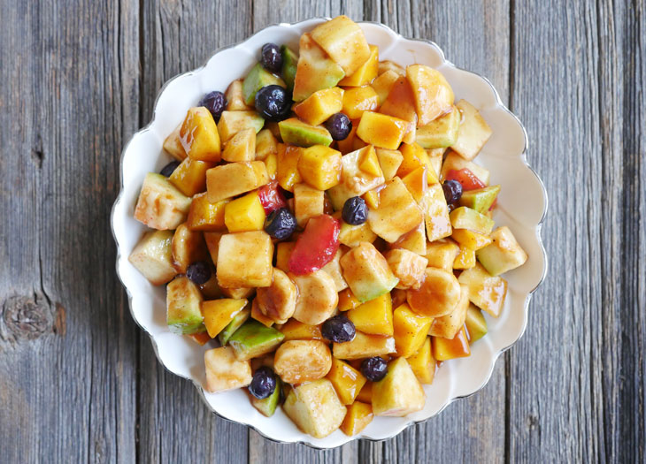 Sweet and Spicy Fruit Chaat (Indian Fruit Salad)