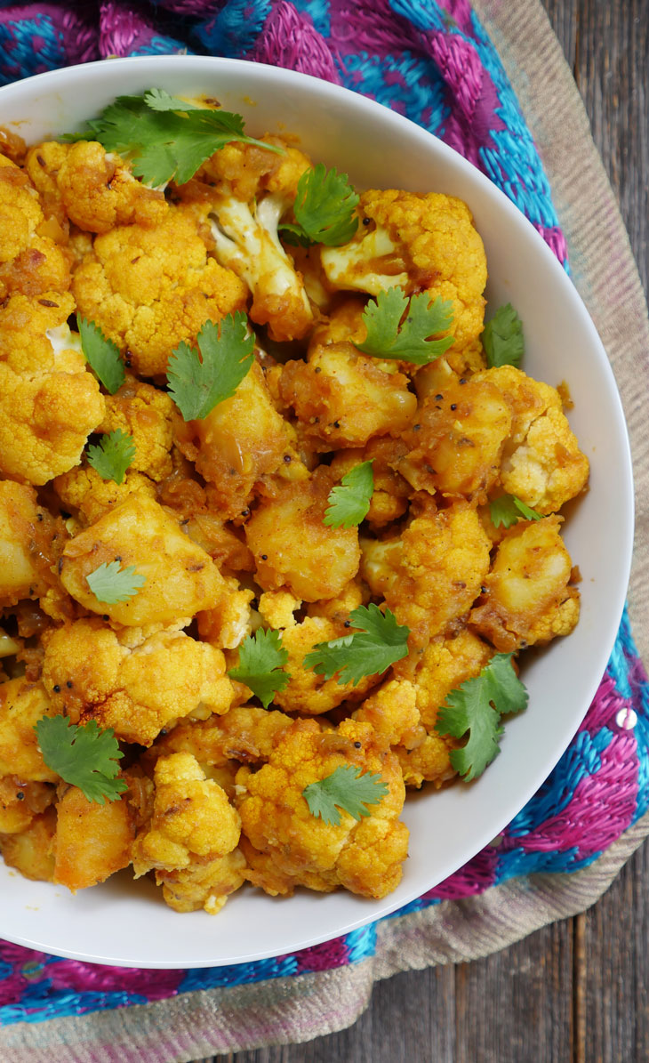 Stovetop and Instant Pot Aloo Gobi by myheartbeets.com