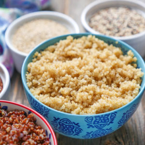 perfect quinoa instant pot by ashley of myheartbeets.com