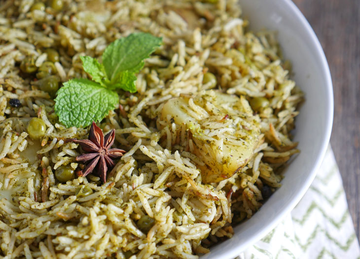 instant pot mint pulao