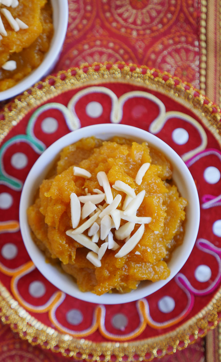 instant pot butternut squash halwa by myheartbeets