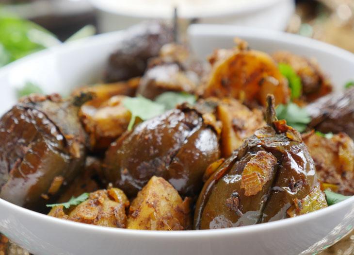 instant pot achari aloo baingan by myheartbeets.com