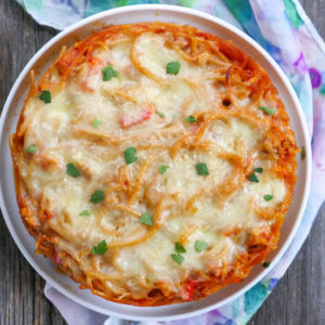 Baked Spaghetti Casserole by myheartbeets