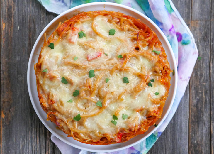 Baked Spaghetti Casserole by myheartbeets
