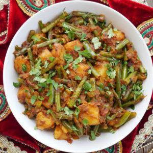 instant pot aloo beans (punjabi potatoes and green beans)