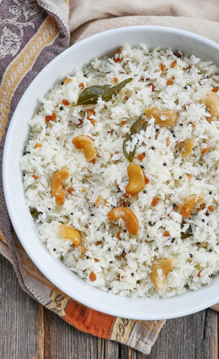 instant pot south indian coconut pulao