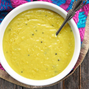 instant pot lentils in coconut curry (kerala parippu)