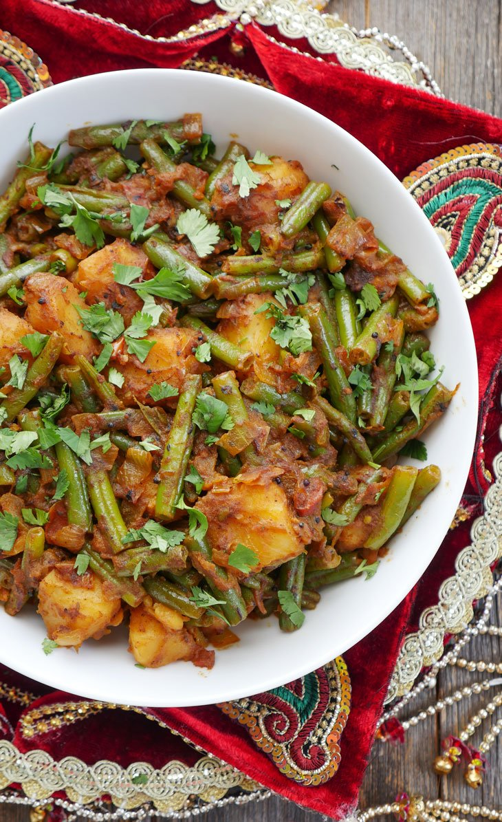 instant pot aloo beans (punjabi potatoes and green beans)