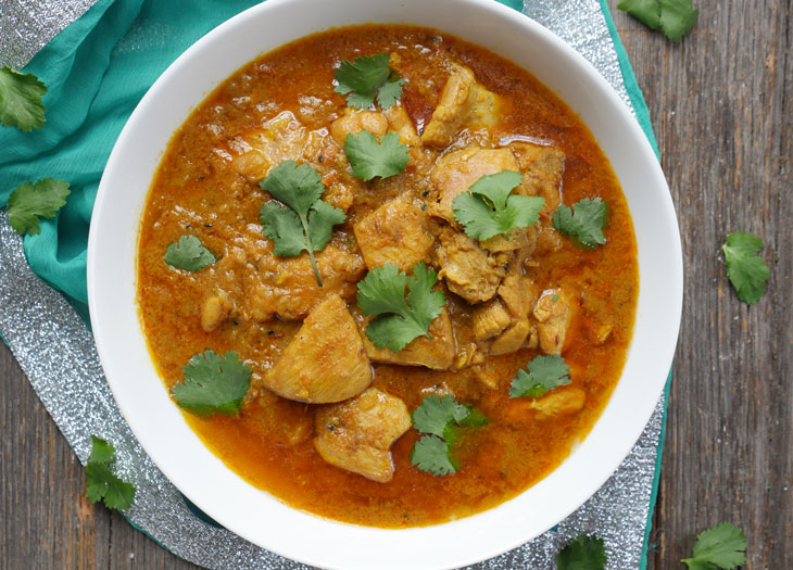 instant pot achari chicken curry (chicken in pickling spices)