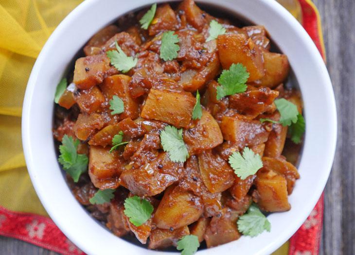 Instant Pot Shalgam ki Sabzi (Indian Spiced Turnips)