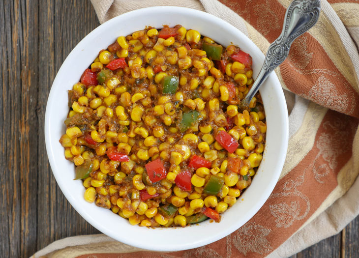 corn kadai masala (corn capsicum sabzi)