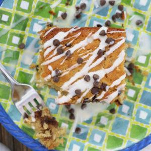 coconut chocolate chip oatmeal cake