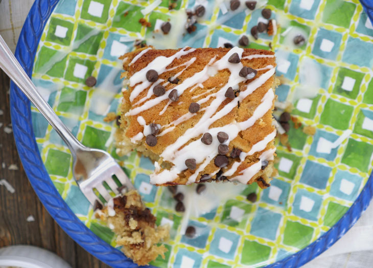 coconut chocolate chip oatmeal cake