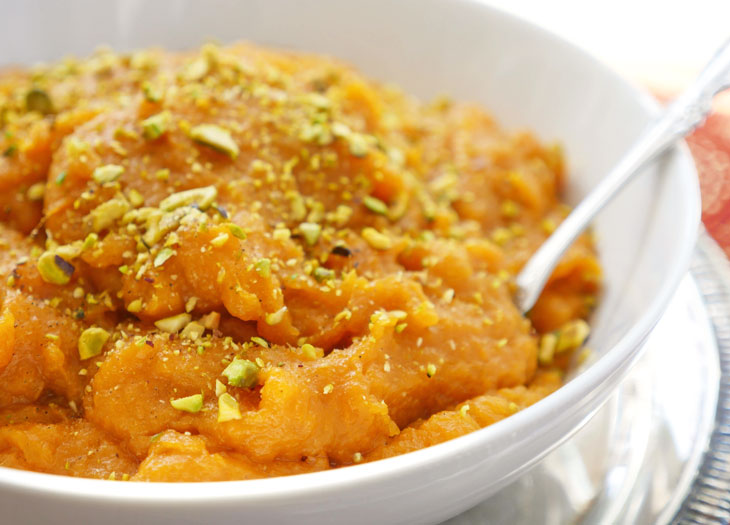instant pot sweet potato halwa