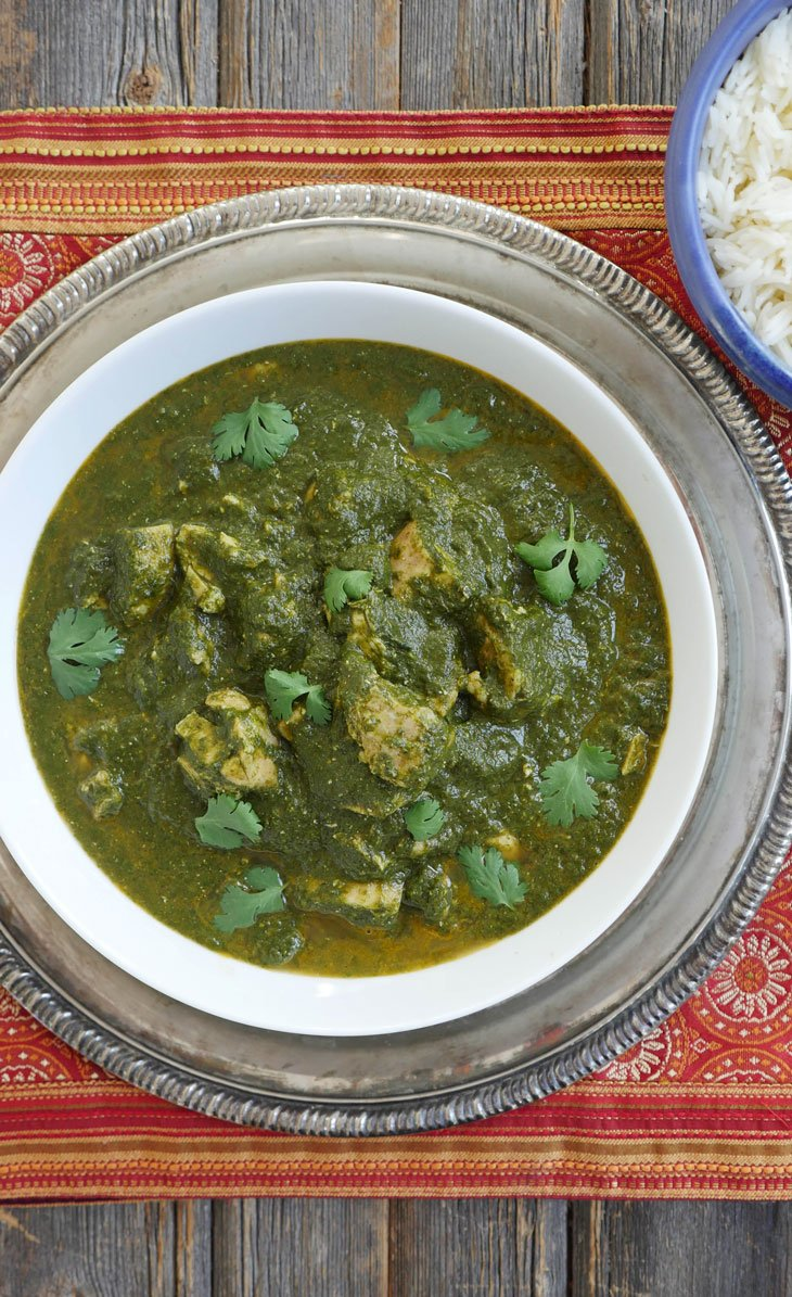 instant pot chicken saag