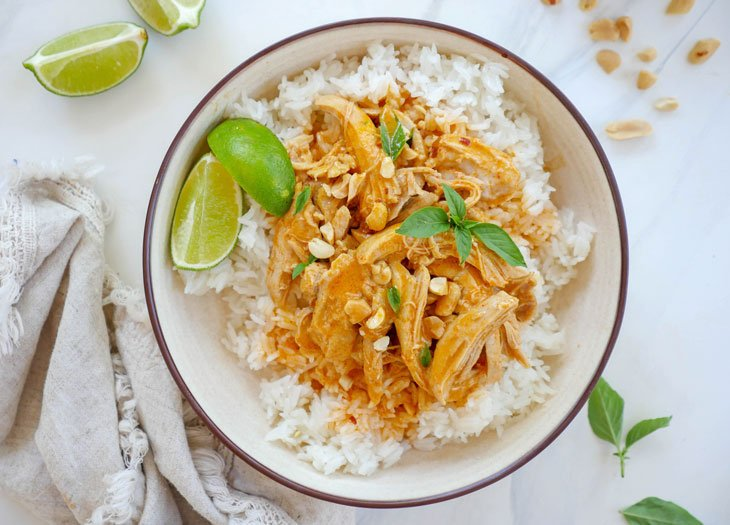 instant pot thai chicken coconut curry
