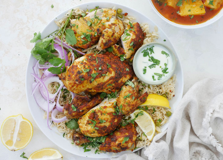 instant pot tandoori chicken meal