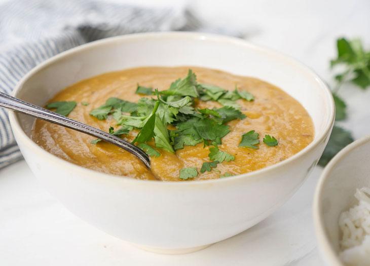 instant pot red lentil dal (masoor dal)