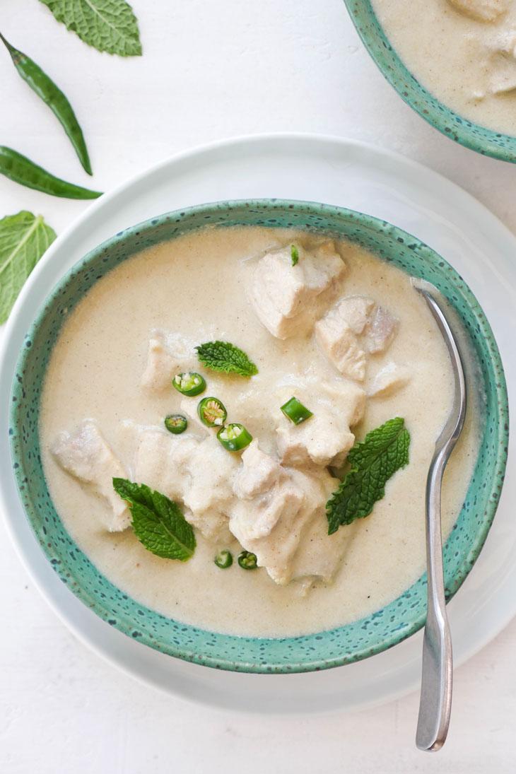 instant pot white chicken korma