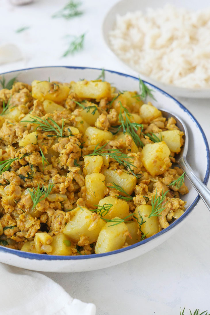 spicy dill ground turkey and potatoes