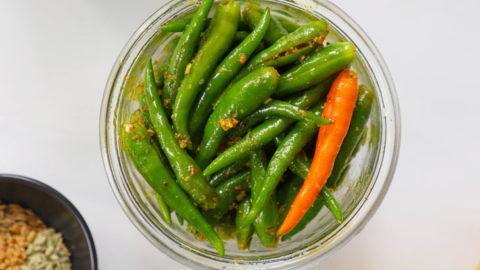 Green Chilli Pickle Mirch Ka Achar My Heart Beets