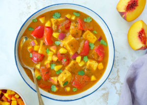 peach paneer curry