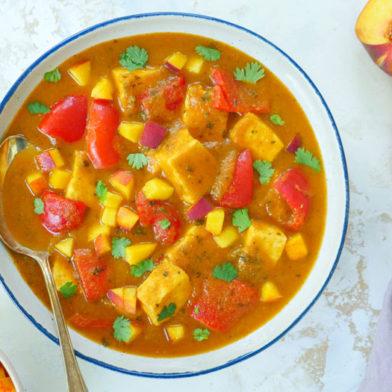 peach paneer curry