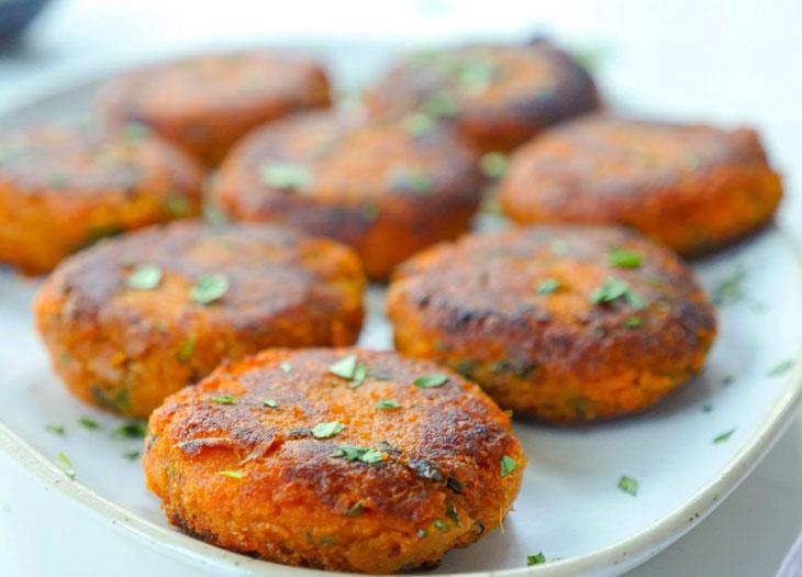 sweet potato tikki (shakarkandi tikki)