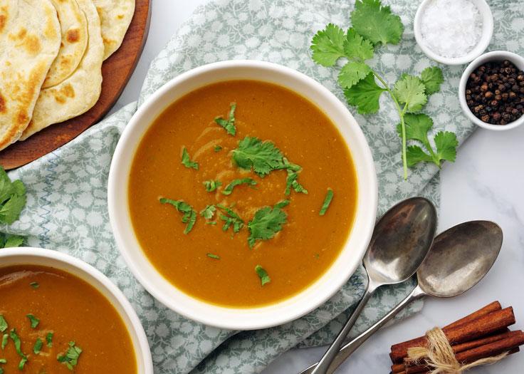 instant pot sweet potato pie dal soup