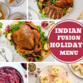 Indian Fusion Holiday Menu