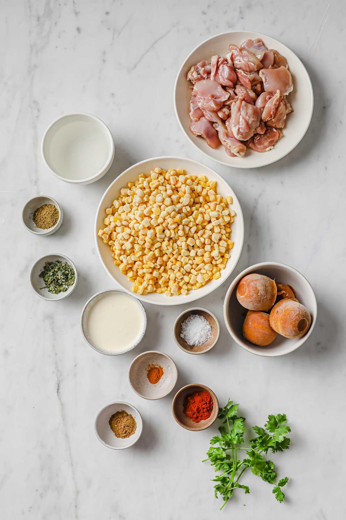 chicken corn curry ingredients